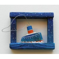 steamboat,starry night frame