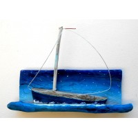 NEW  sailboat,starry night