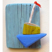 shelf for small objects,tirquise,sailboat